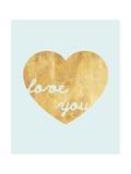 Heart of Gold Love Giclée premium par Miyo Amori