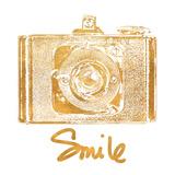 Gold Camera (gold foil) Reproduction d'art par Jairo Rodriguez