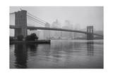 Brooklyn Bridge and New York City in Mist