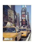 Yellow Cabs  Times Square  New York City