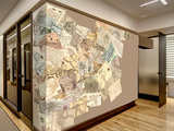 Creative Collage Vintage Maps - 64 piece Wallpaper Collage