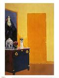 Interior with Yellow Door