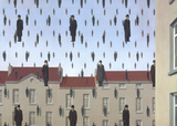 Golconde Reproduction d'art par Rene Magritte