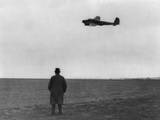 Winston Churchill  Photographed from Behind  Watching B-17 'Flying Fortress' in Flight  July 1940