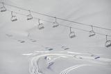 Ski Lifts in the Region of Bavarian Oberstdorf in Winter