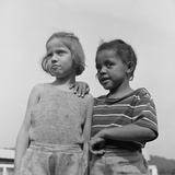 Two Girls at Camp Christmas Seals  a Racially Integrated Summer Camp in Haverstraw  NY