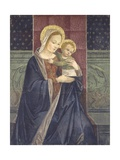 Enthroned Madonna with Child  15th C