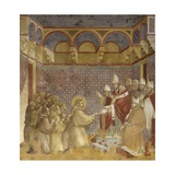 Saint Francis and Friars Receiving Franciscan Rule from Pope