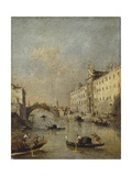 Venice or Rio Dei Mendicanti with Gondolas  1780-99
