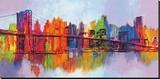 Manhattan abstrait, triptyque Tableau sur toile par Brian Carter