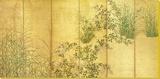 Japanese Autumn Grasses  Six-Fold Screen  Early Edo Period