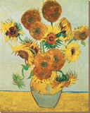 Vase of Fifteen Sunflowers, c.1888 Tableau sur toile par Vincent Van Gogh