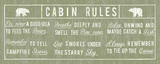 Cabin Rules Panel