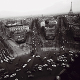 View from the Arc de Triomphe to the Place de l'Etoile  1960s