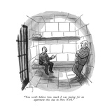 """""""You won' t believe how much I was paying for an apartment this size in Ne…"""" - New Yorker Cartoon"""
