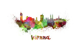 Vienna Skyline in Watercolor