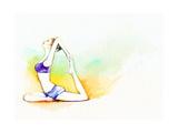 Yoga Position Watercolor Illustration