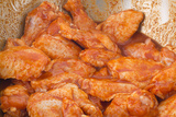 Raw Chicken Wings in Spice Prepare for Cooking