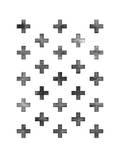 Swiss Cross Pattern on White