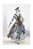 Mademoiselle Sophie  Costume Design for an Opera  C1820-1857