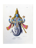 Vishnu  One of the Gods of the Hindu Trinity (Trimurt)  C19th Century