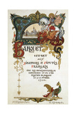 Menu of a Banquet in Honour of the Delegation of the French Parliament  1910
