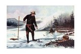 Trout Fishing on Chateaugay Lake  American Winter Sports  1856