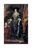 Queen Henrietta Maria and Her Dwarf Sir Jeffrey Hudson  C1633