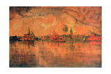 View of Venice from the Sea  C1896