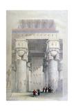 Portico of the Temple of Dendera  19th Century