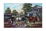 American Farm Yard in the Morning  1857