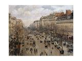 Boulevard Montmartre in Paris  1897