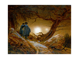 Two Men Contemplating the Moon  C1825-1830