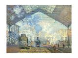 Gare Saint Lazare, Paris, 1877 Giclée par Claude Monet