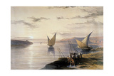 Boats on the Nile  C1838-1839