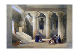 Interior of the Temple at Esna  Upper Egypt  1838