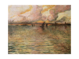 Seascape with Distant View of Venice  1896