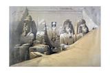 Front Elevation of the Great Temple of Abu Simbel  Nubia  19th Century