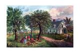 American Homestead in Autumn  1869