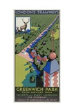 Greenwich Park  London County Council (LC) Tramways Poster  1932