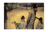 Place De La Concorde  (Viscount Lepic and His Daughters Crossing the Place De La Concord)  1875