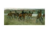 Exercising Racehorses  C1880