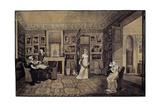 Drawing Room in the Baryatinsky House in Altona  1807