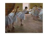 Ballet Rehearsal, 1885-1890 Giclée par Edgar Degas