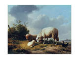 Sheep and Poultry in a Landscape  19th Century
