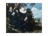 Married Couple in a Garden  C1622