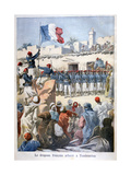 The Raising of the French Flag at Timbuktu  1894