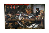 A Fishmonger's Shop  17th Century