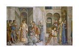 Pope Sixtus II Gives Church Treasure to St Laurence  Mid 15th Century