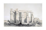 The Ramseion  Luxor  Egypt  19th Century